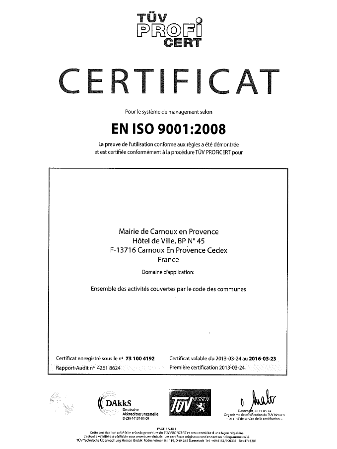 certificat visuel